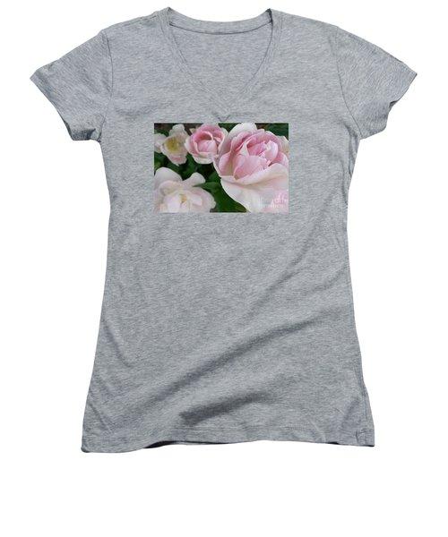 Double Pink Women's V-Neck T-Shirt