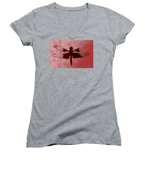Dragonfly Women's V-Neck (Athletic Fit)
