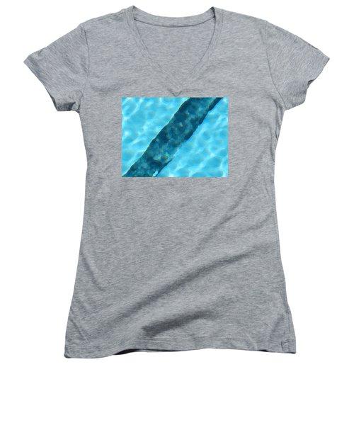 Women's V-Neck T-Shirt (Junior Cut) featuring the digital art Dream by Richard Laeton