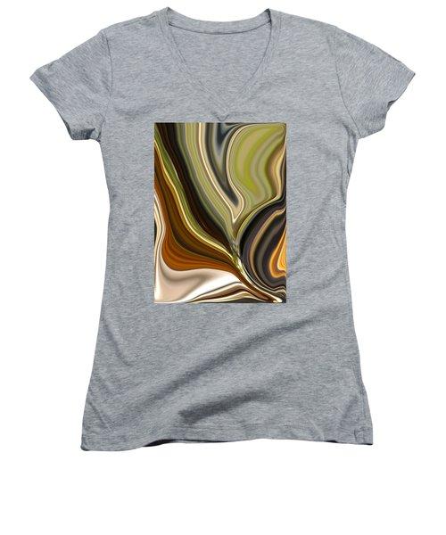 Earth Tones Women's V-Neck T-Shirt