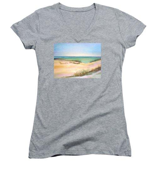 Easy Breezy Women's V-Neck T-Shirt (Junior Cut) by Patricia Piffath