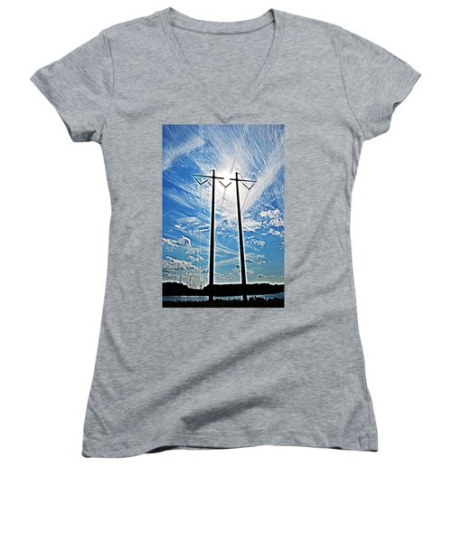 Electric Women's V-Neck T-Shirt