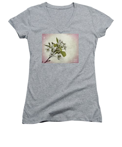 Etched In Love Women's V-Neck
