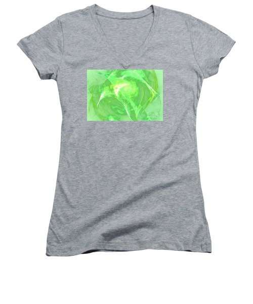 Women's V-Neck T-Shirt (Junior Cut) featuring the digital art Ethereal by Kim Sy Ok