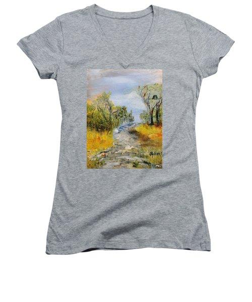 Evening Romance Women's V-Neck T-Shirt