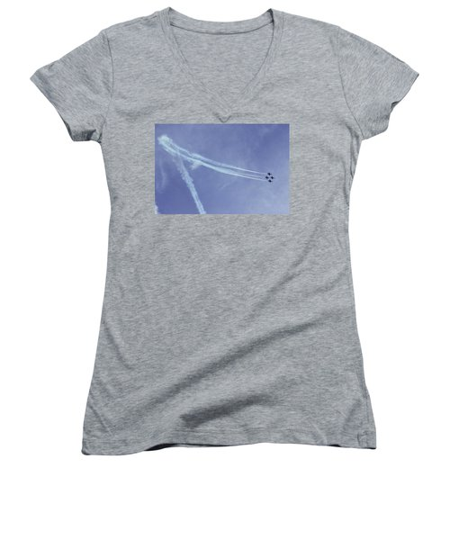 F16s In Formation Women's V-Neck (Athletic Fit)