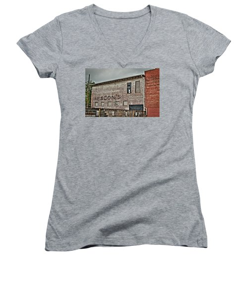 Faded Facade Women's V-Neck T-Shirt