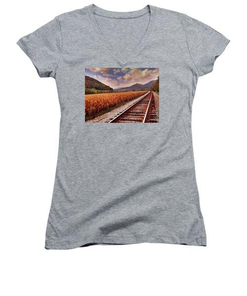 Fall Days Women's V-Neck T-Shirt