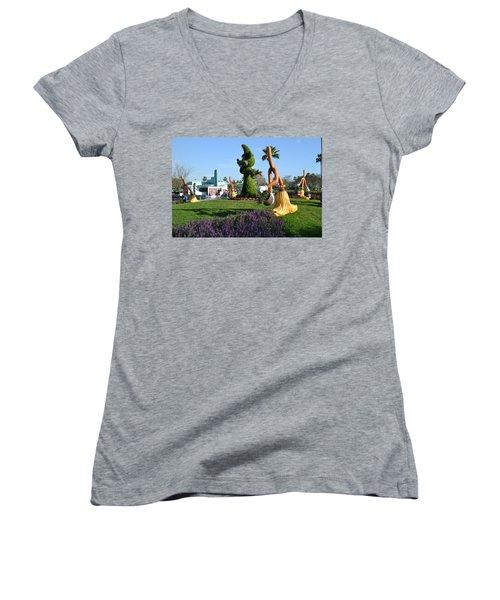 Fantasia In Flowers Women's V-Neck T-Shirt