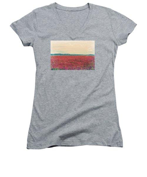Fields Of Heaven Women's V-Neck T-Shirt