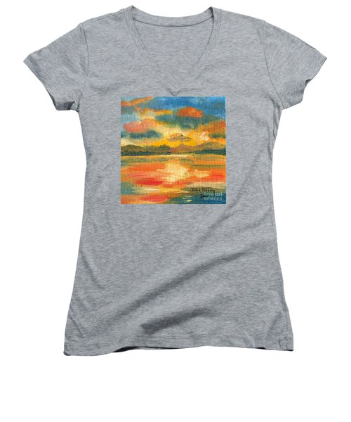 Fiery Sunset Women's V-Neck T-Shirt