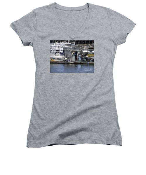 Fish Shack Women's V-Neck (Athletic Fit)