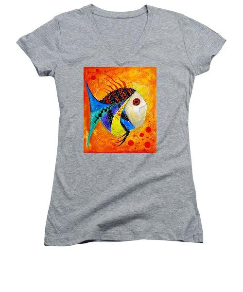 Fish Splatter II Women's V-Neck