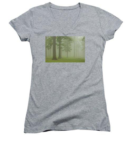 Foggy Forest Women's V-Neck