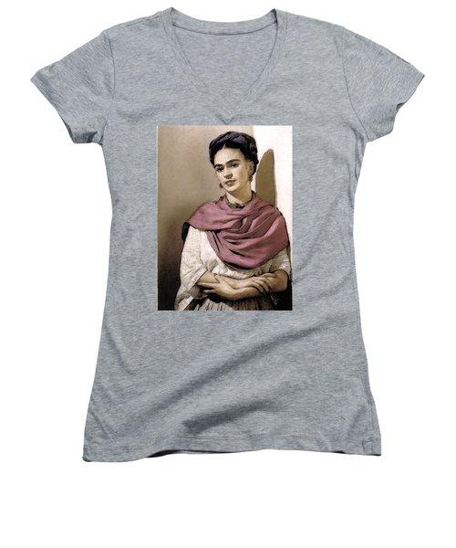 Frida Interpreted 2 Women's V-Neck T-Shirt