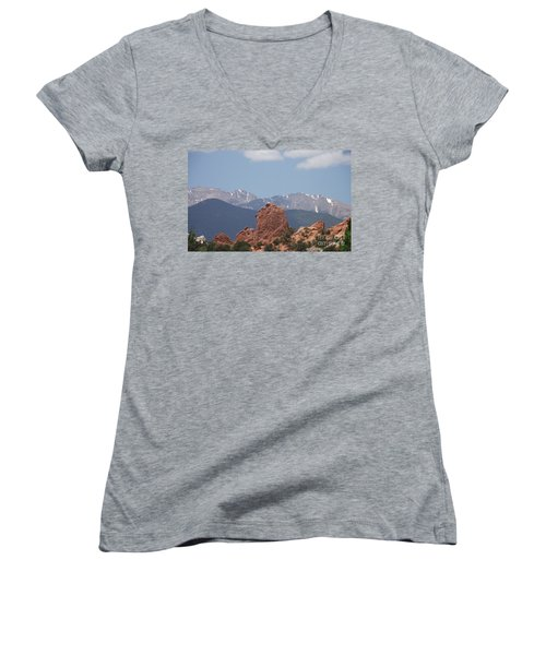 Garden Of The Gods Women's V-Neck (Athletic Fit)