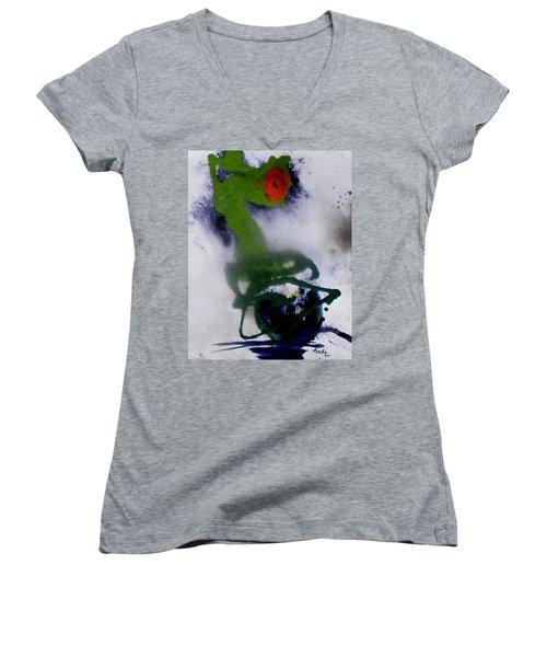 Ghost Flower Women's V-Neck T-Shirt