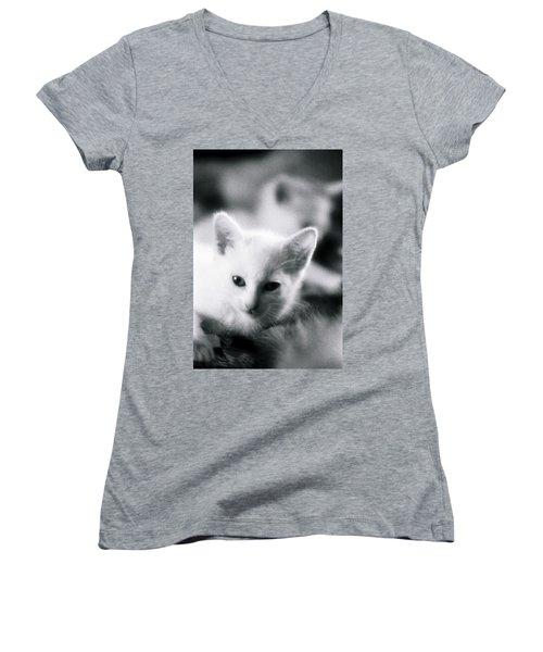 Ghost Kitties Women's V-Neck