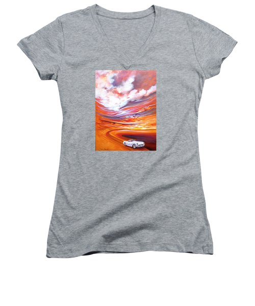 Corvette Heaven Women's V-Neck (Athletic Fit)