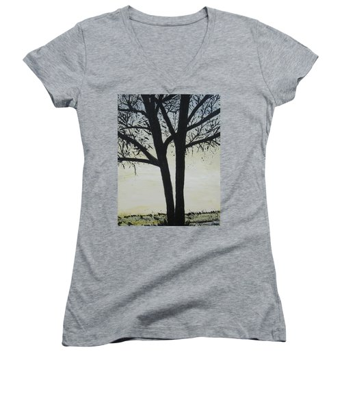 God Whispers Women's V-Neck T-Shirt (Junior Cut)