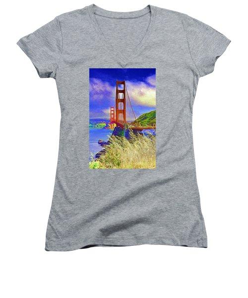 Golden Gate Bridge - 6 Women's V-Neck