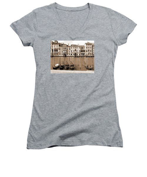 Gondolas Outside Salute Women's V-Neck T-Shirt