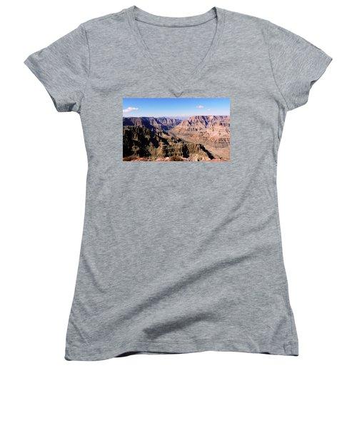 Women's V-Neck T-Shirt (Junior Cut) featuring the photograph Grand Canyon by Lynn Bolt