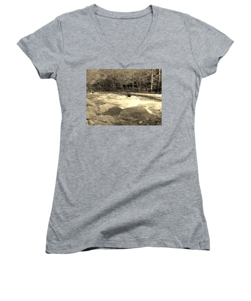 Great Smoky Mountain Women's V-Neck (Athletic Fit)