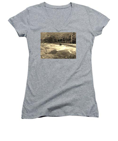 Great Smoky Mountain Women's V-Neck T-Shirt
