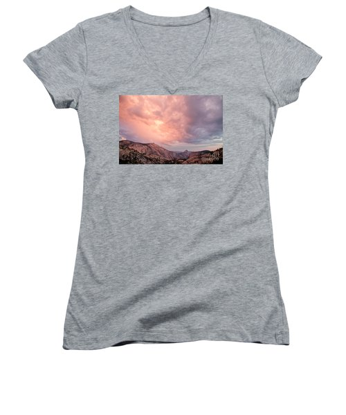 Half Dome From Olmsted Point Women's V-Neck (Athletic Fit)