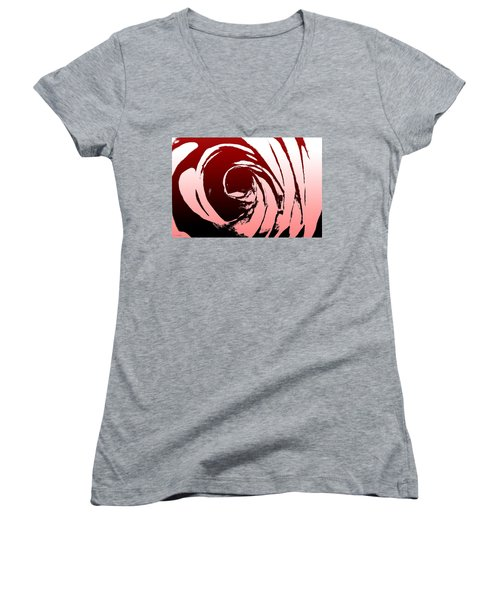 Heart Of The Rose Women's V-Neck