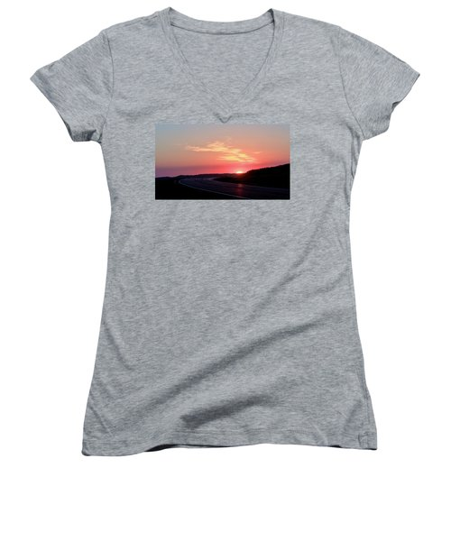 Highway To The Sky Women's V-Neck T-Shirt