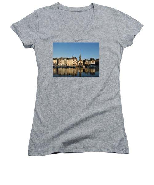 Honfleur  Women's V-Neck T-Shirt (Junior Cut) by Carla Parris