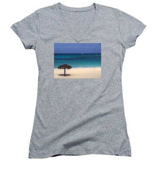Women's V-Neck T-Shirt (Junior Cut) featuring the photograph Idyllic Day by Lynn Bolt