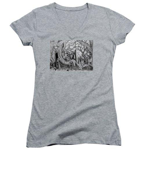 in my garden II Women's V-Neck T-Shirt