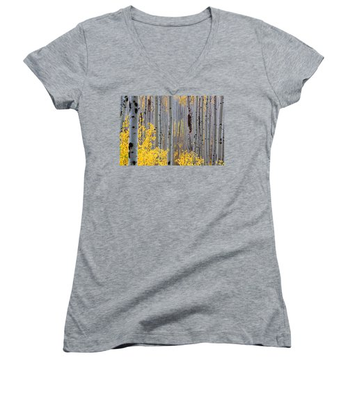 Women's V-Neck T-Shirt (Junior Cut) featuring the photograph In The Thick Of Things by Jim Garrison