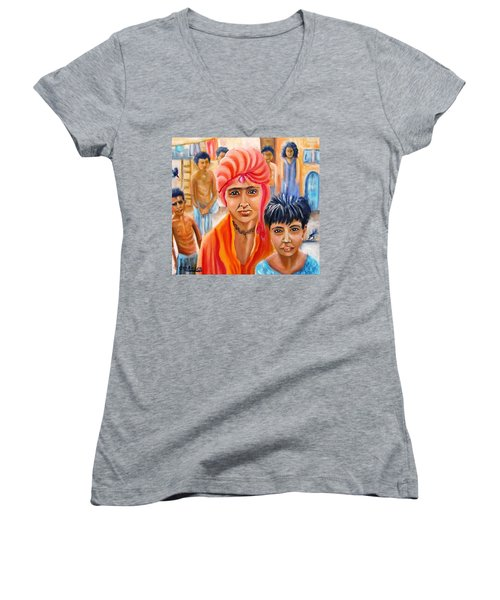 India Rising -- Prince Of Thieves Women's V-Neck (Athletic Fit)