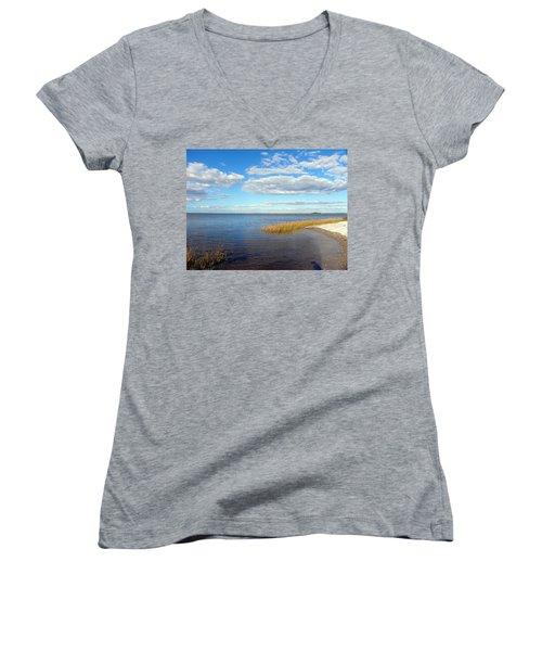 Island Skies Women's V-Neck T-Shirt