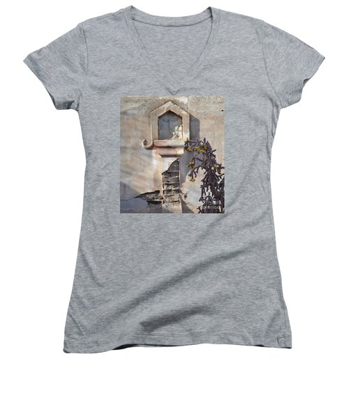 Women's V-Neck T-Shirt (Junior Cut) featuring the photograph Jesus Image by Rebecca Margraf