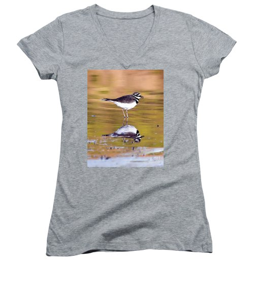 Killdeer Reflection Women's V-Neck (Athletic Fit)