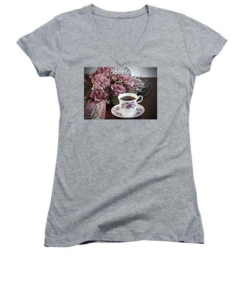 Ladies Tea Time Women's V-Neck (Athletic Fit)