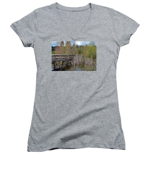 Lake Bonny Boardwalk Women's V-Neck T-Shirt