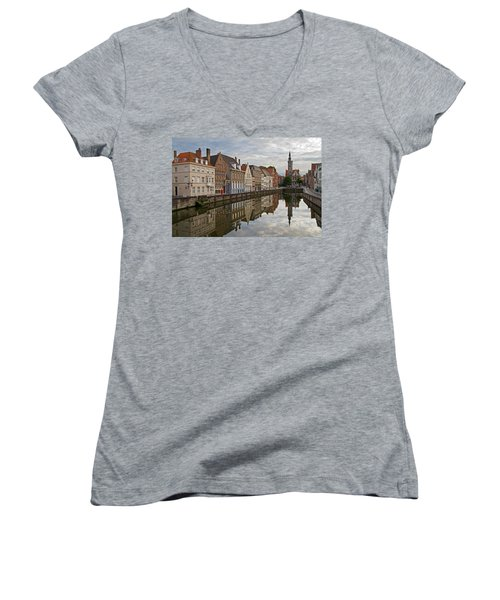 Late Afternoon Reflections Women's V-Neck (Athletic Fit)