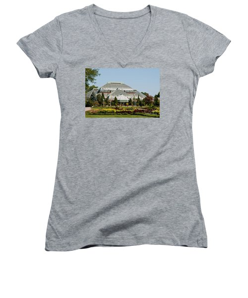 Lincoln Park Zoo In Chicago Women's V-Neck T-Shirt