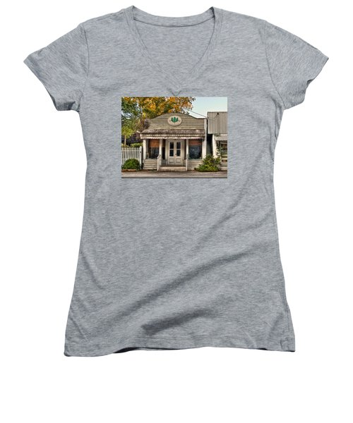 Little Old Shop Women's V-Neck T-Shirt