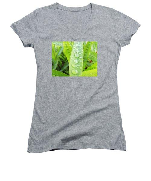 Look Deep Into Nature Women's V-Neck T-Shirt