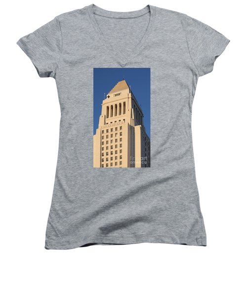 Los Angeles City Hall Women's V-Neck