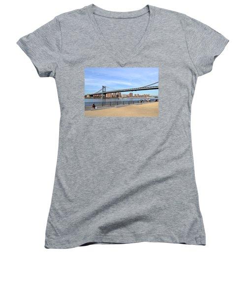 Manhattan Bridge1 Women's V-Neck T-Shirt
