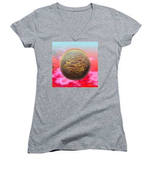 Measles Virus Women's V-Neck