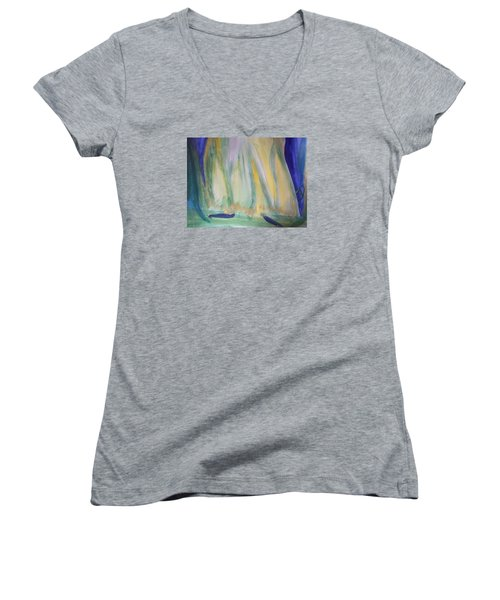Medieval Dance Women's V-Neck T-Shirt (Junior Cut) by Judith Desrosiers
